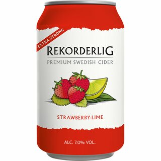 Rekorderlig Strawberry Lime strong 7% 24 x 0,33l