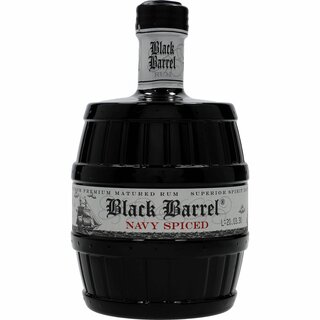 A.H. Riise Black Barrel Premium Navy Spiced Rum  40% 0,7L