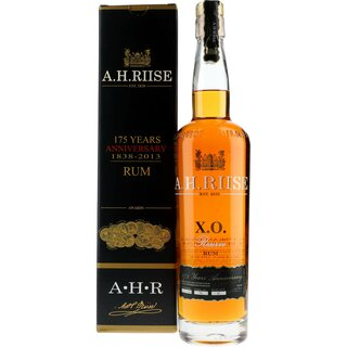 A.H. Riise X.O. 175 Years Anniversiry Edition Rum GIFTBOX...