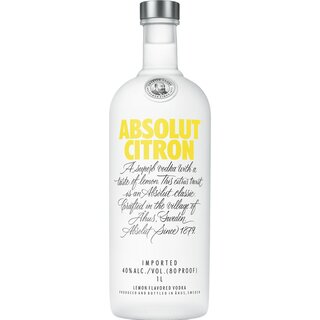 Absolut Citron 40% 1 ltr.