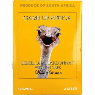 Game of AfricaSemil- Chardonnay 11% 3 ltr.